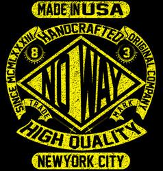 tee vintage slogan man t shirt graphic design vector image