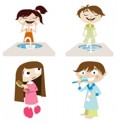 cartoon girl and boy vector image