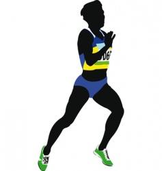 woman sprinter vector image