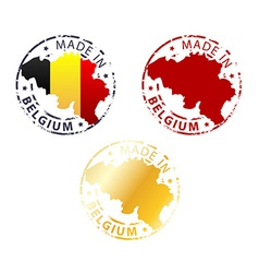 Made in belgium stamp vector