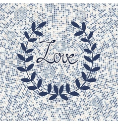 Stylish love card vector