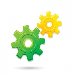 Gears icon vector