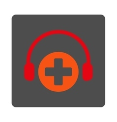 Hospital call service flat button vector