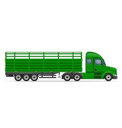 Semi truck trailer 12 vector
