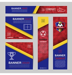 Abstract flag colour banner for website ads vector
