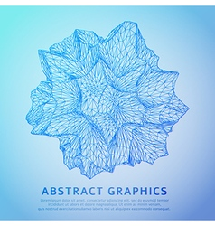 Abstract star blue background vector image