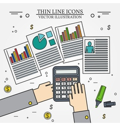 Accounting icon thin line for web and mobile moder vector