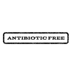 Antibiotic free watermark stamp vector