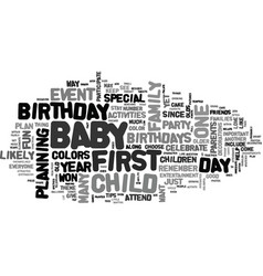 Baby birthdays text word cloud concept vector