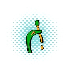 Beer tap icon comics style vector image