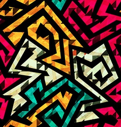 bright tribal seamless pattern vector image