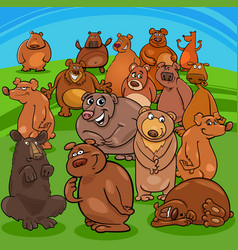 cartoon bears animal characters vector image vector image