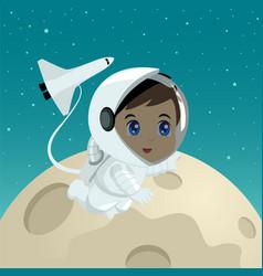Cartoon of an astronaut vector