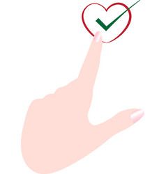 Check hand vector