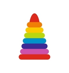 Children colorful pyramid icon vector image