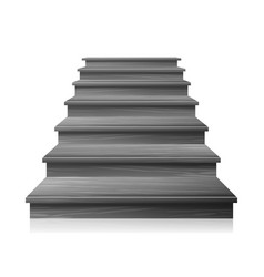 Dark empty staircase steps for business vector