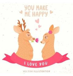 Deers couple vector image vector image