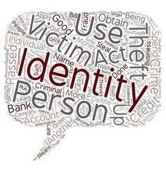 Define identity theft text background wordcloud vector