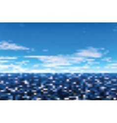 Defocused view on sea vector image vector image
