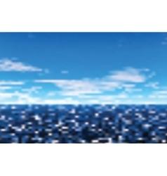 Defocused view on sea vector