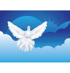 Dove in the sky2 vector