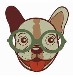 French bulldog in glasses vector image