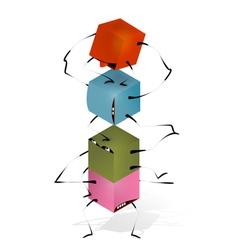 Funny Toy Blocks Pyramid vector image vector image