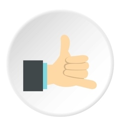 Gesture surfing icon flat style vector