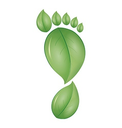 green foot vector image vector image