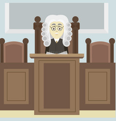 hand drawn legal judge vector image