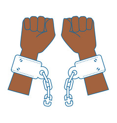 Hands with handcuffs icon vector