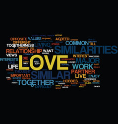 Love are you similar to each other text vector