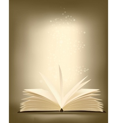 opened magic book vector image vector image