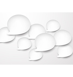 Paper white rounded speech bubbles vector image
