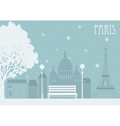 Paris in the winter vector image vector image