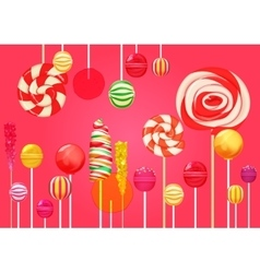 Red pink sugar background with bright colorful vector