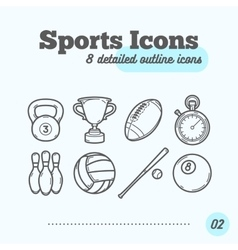 Sports Icons Set vector image vector image