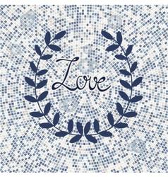 Stylish love card vector
