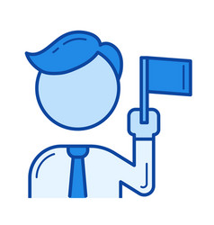 team leader line icon vector image vector image