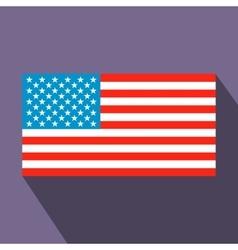 Usa flag flat icon vector