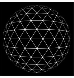 White lowpoly sphere vector