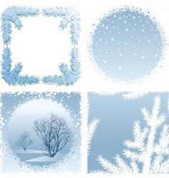 winter frames vector image vector image - Winter Picture Frames