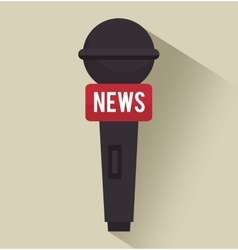 Microphone tv news graphic isolated vector