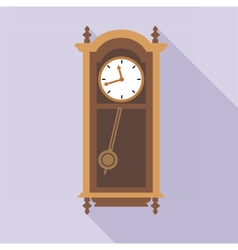 Digital old clock in wooden furniture vector