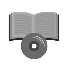 Book on cd vector