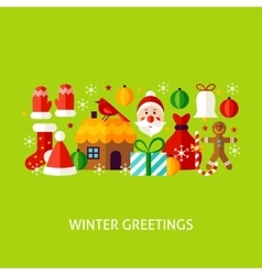Winter greetings concept vector