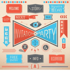 Invitation party design elements vector image