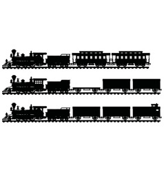 Vintage american steam trains vector