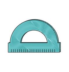Protractor icon image vector