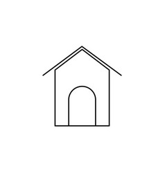 dogs house linear icon vector image